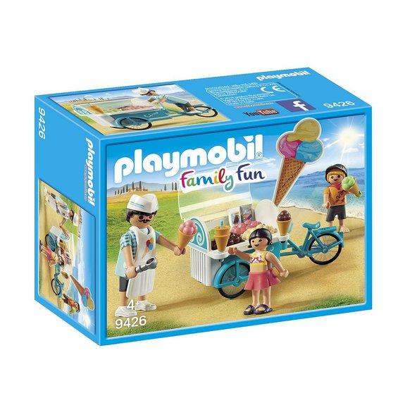 Marchand de glaces et triporteur Playmobil Family Fun 9436