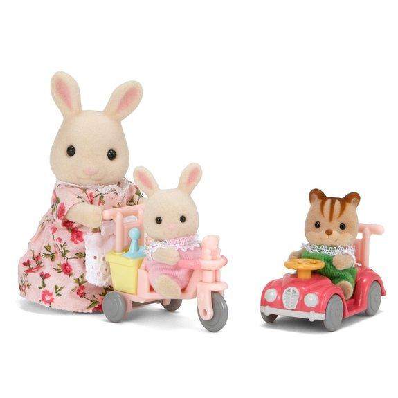 Tricycle et mini voiture bébés Sylvanian Families 3567