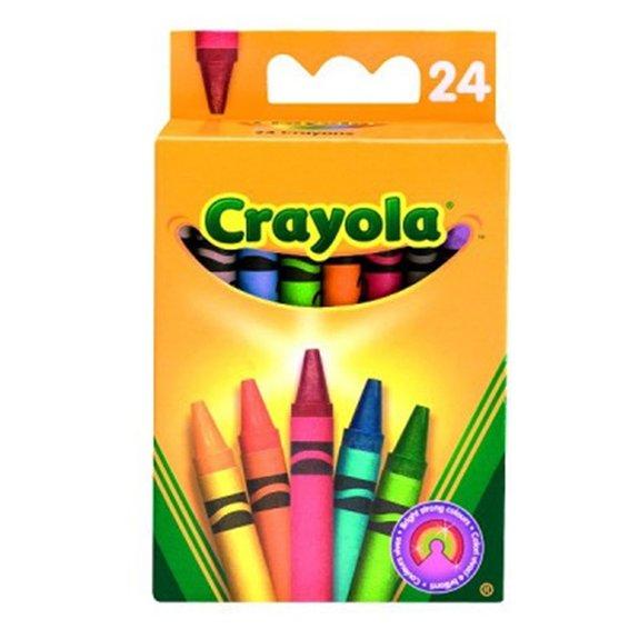 Boîte de 24 crayons doux à la cire