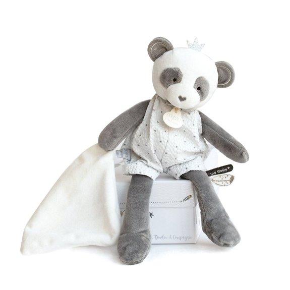 Pantin avec doudou : Panda attrape-rêves