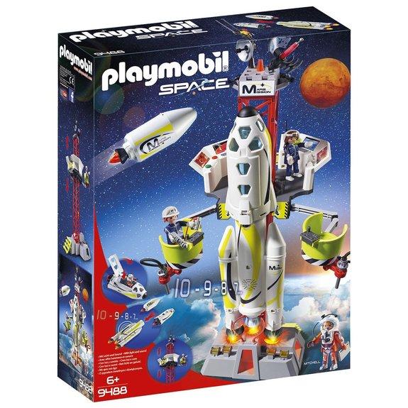 Fusée Mars et plateforme Playmobil Space 9488