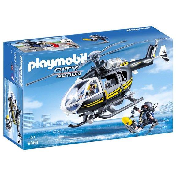 Hélicoptère et policiers d'élite Playmobil City Action 9363