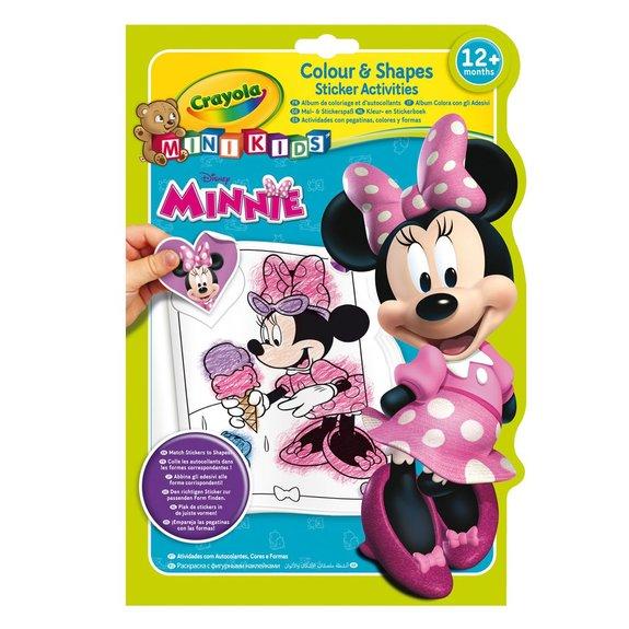 Album de coloriage et d'autocollants Minnie