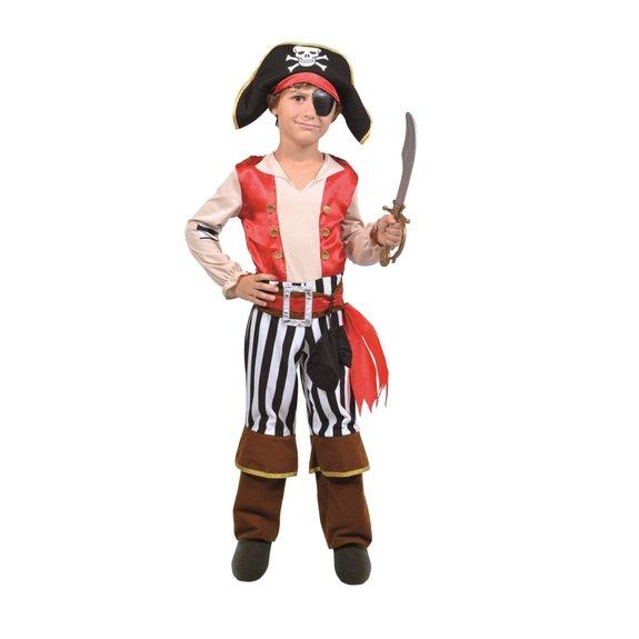 Déguisement de pirate rouge 8-10 ans