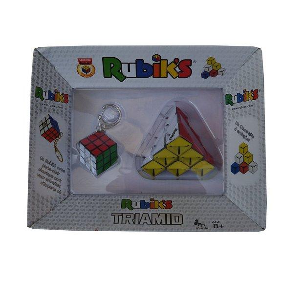 Pack Rubik's Triamid + Porte-Clefs 3x3