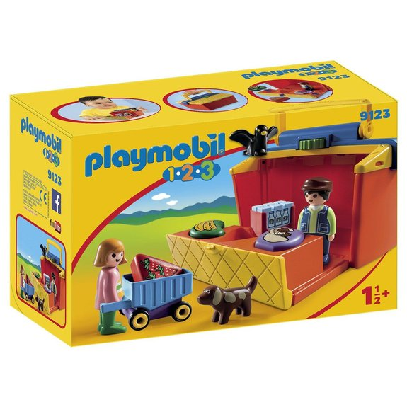 Étal de marché transportable Playmobil 1.2.3 9123