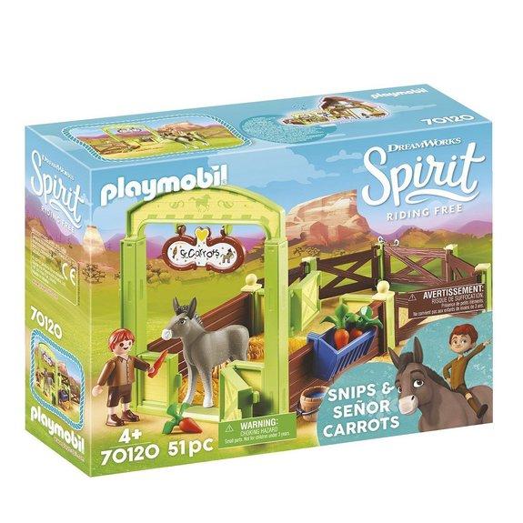 La Mèche et Monsieur Carotte avec box Playmobil Spirit 70120