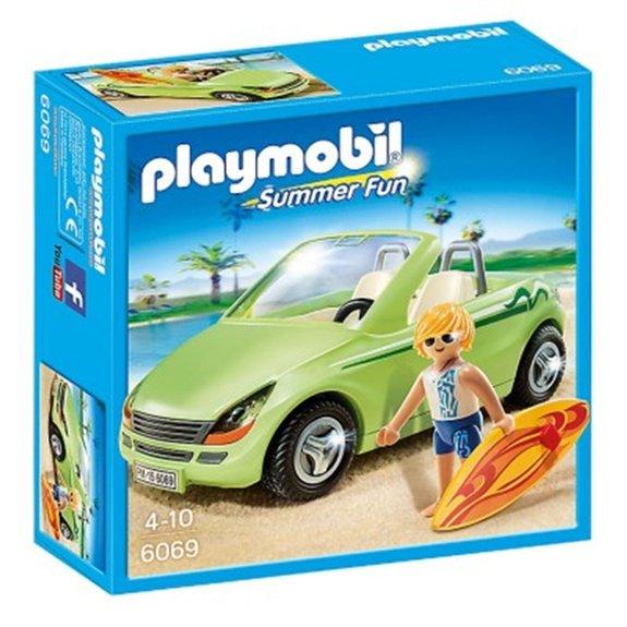 Surfeur et voiture décapotable Playmobil Summer Fun 6069
