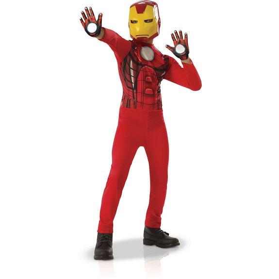 Déguisement avec gants Iron Man : Taille L