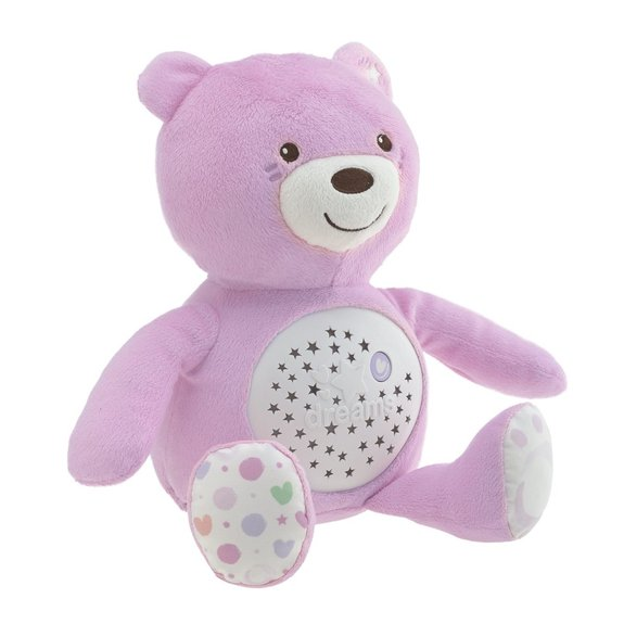 Peluche projecteur Baby bear rose