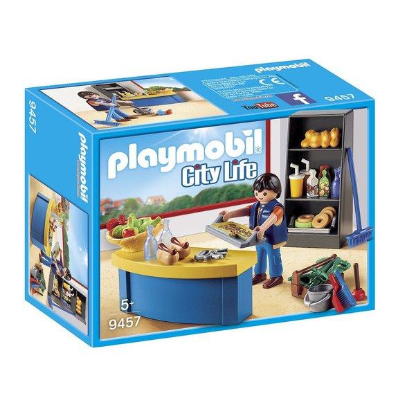 Surveillant avec boutique Playmobil City Life 9457