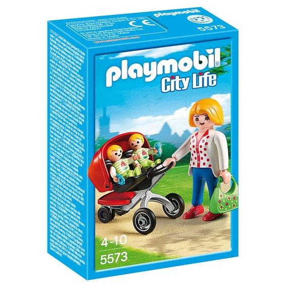 Maman avec jumeaux et landau Playmobil City Life - 5573