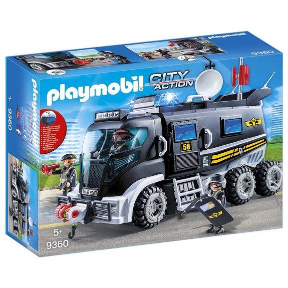 Camion des policiers d'élite sirène Playmobil City Action 9360