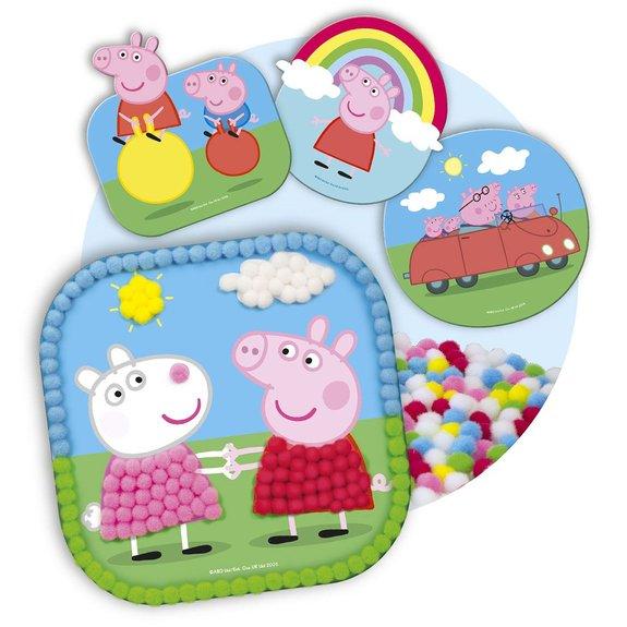 Mon set de pompons Peppa Pig