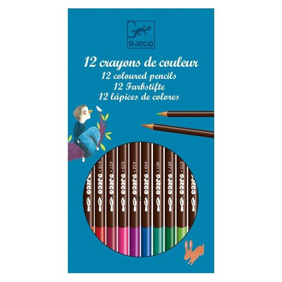 12 crayons d'aquarelles classiques