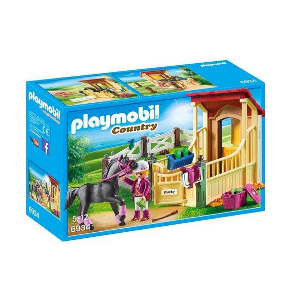 Box avec cavalière et pur-sang Arabe Playmobil Country 6934