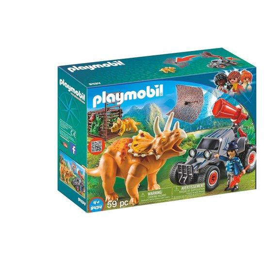 Bandit avec tricératops Playmobil 9434