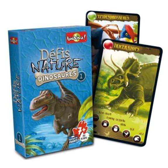 Jeu de cartes Défis Nature - Dinosaures 1