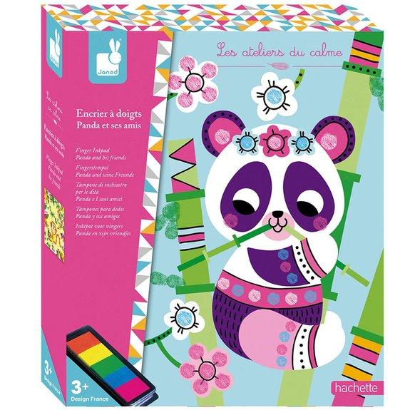 Kit créatif - Encrier à doigts Panda et ses amis