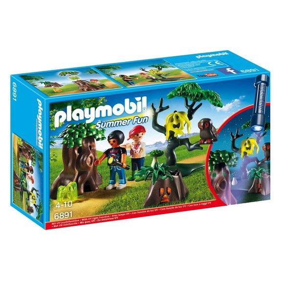 Enfants avec végétation et lampe torche Playmobil Summer Fun 6891