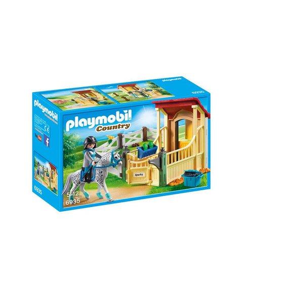 Box avec cavalière et cheval Appaloosa Playmobil Country 6935