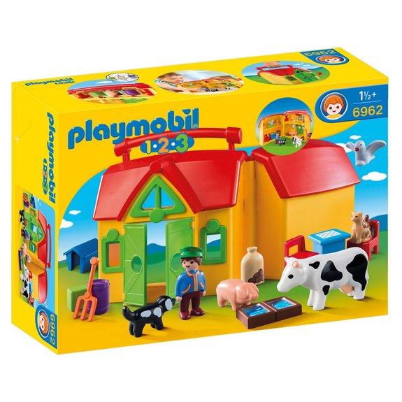 Ferme transportable avec animaux Playmobil 1.2.3. 6962