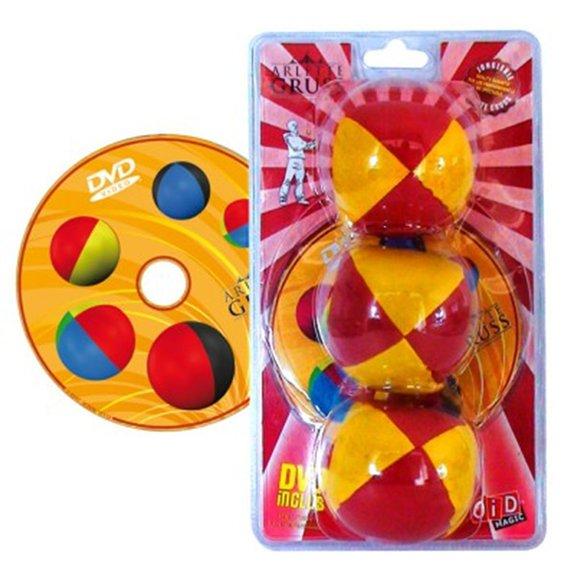 Kit de jonglerie avec balles et DVD