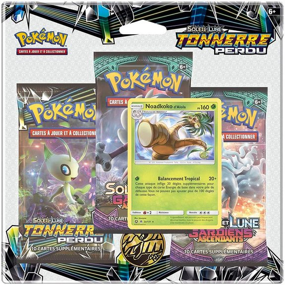 Pack 3 boosters Pokémon