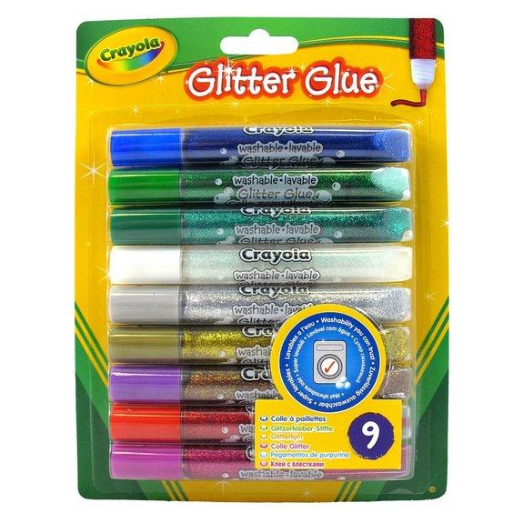 Colle paillette Blister de 9 couleurs assorties
