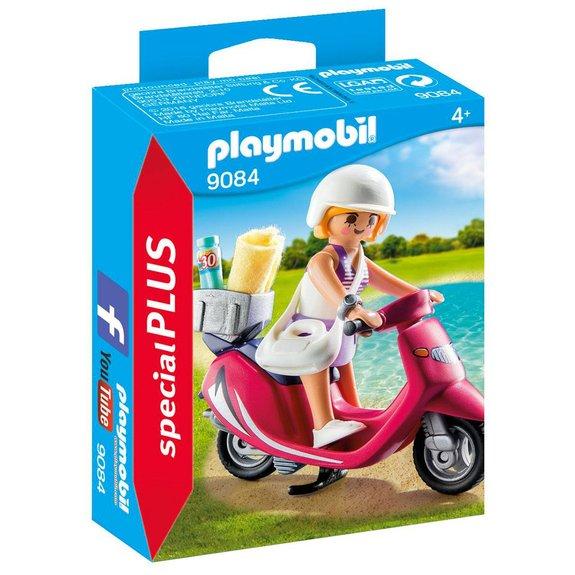 Vacancière avec scooter Playmobil Special PLUS 9084