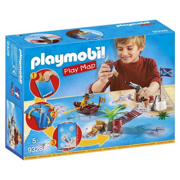 Pirates avec support de jeu Playmobil Play Maps 9328