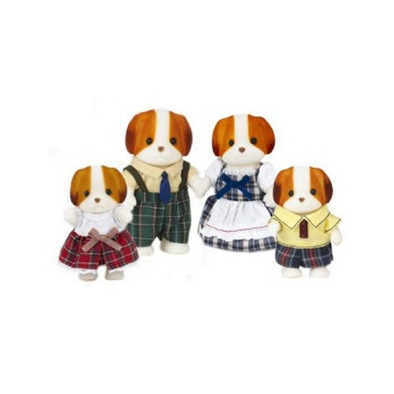 Sylvanian Family 3139 : Famille chien chiffon