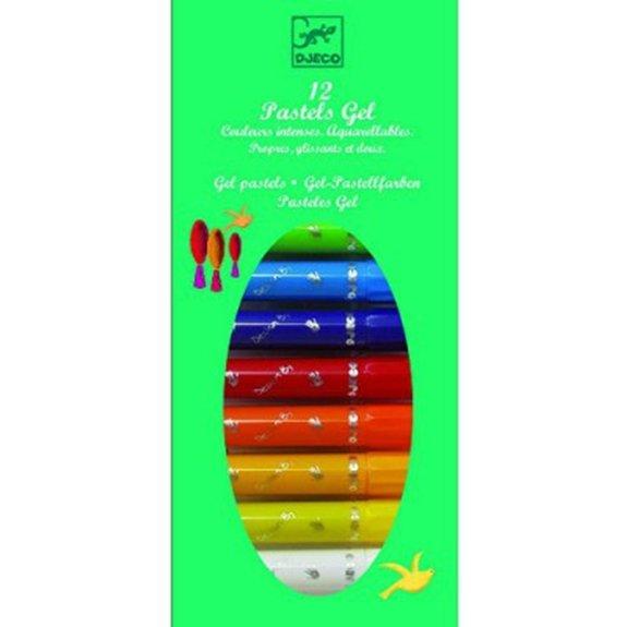 12 Crayons pastels gel : Classique