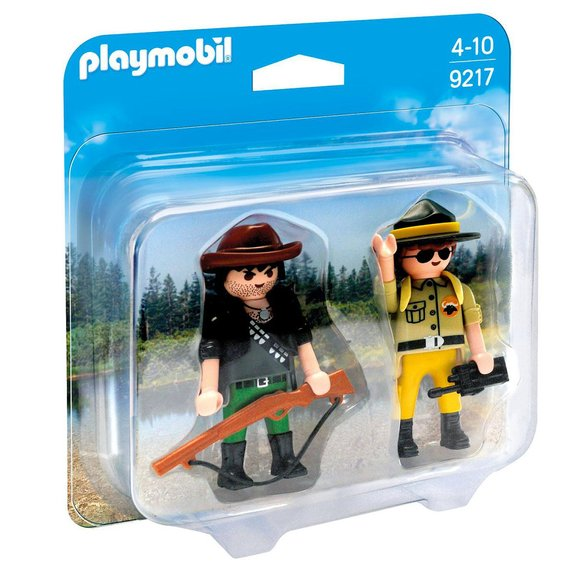 Duo garde-forestier braconnier Playmobil Wild Life 9217