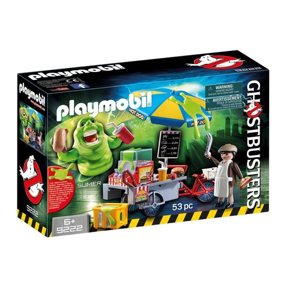 Bouffe-tout avec stand de hot dogs Playmobil Ghostbusters 9222
