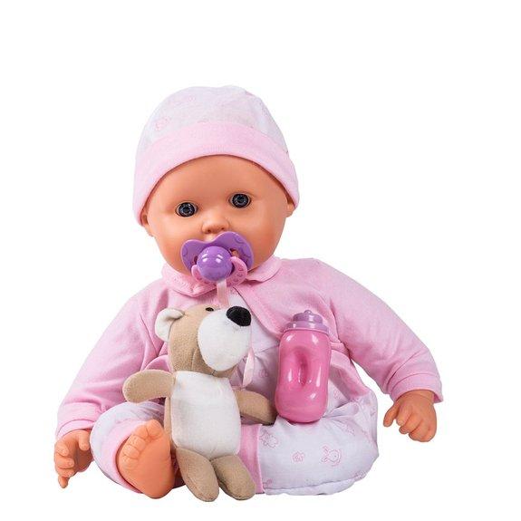 Bébé interactif et son ourson