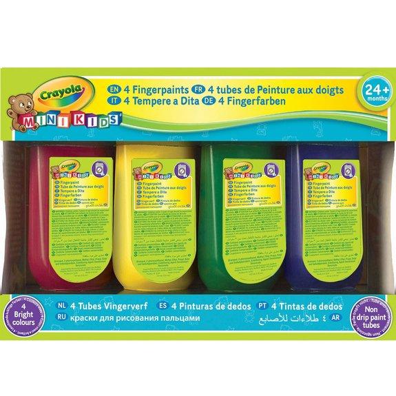 4 tubes de peinture au doigt Mini kids