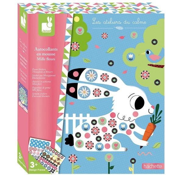 Kit créatif - Autocollants en mousse : Mille Fleurs