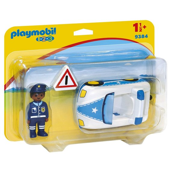 Voiture de police Playmobil 1.2.3 9384