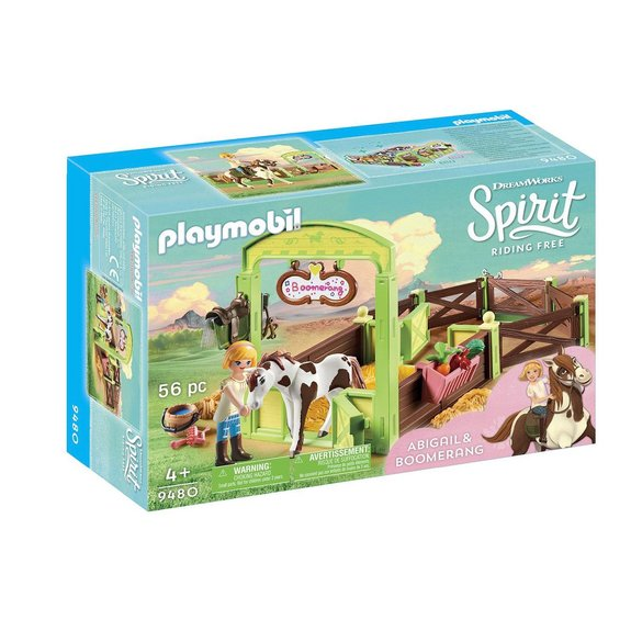 Abigaëlle et Boomerang avec box Playmobil Spirit Riding Free 9480