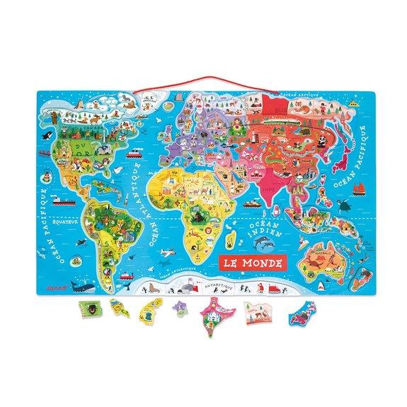Puzzle magnétique du monde