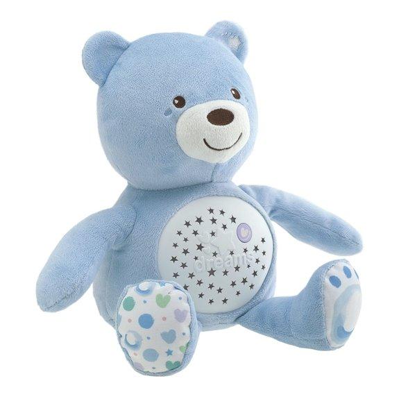 Peluche projecteur Baby bear bleu