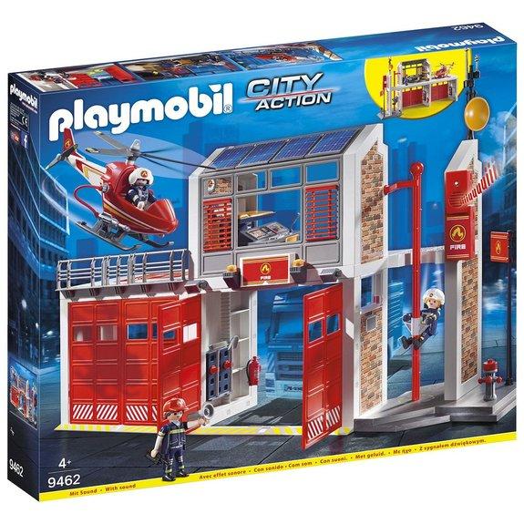 Caserne pompier et hélicoptère Playmobil City Action 9462