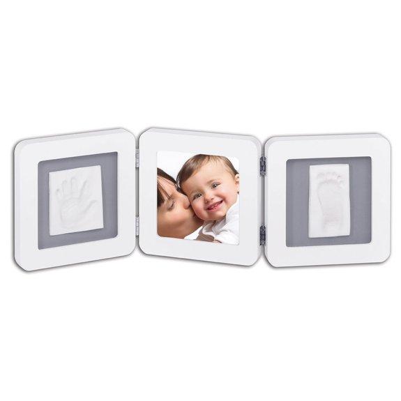 Baby art double print frame blanc