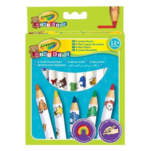 8 maxi crayons de couleur