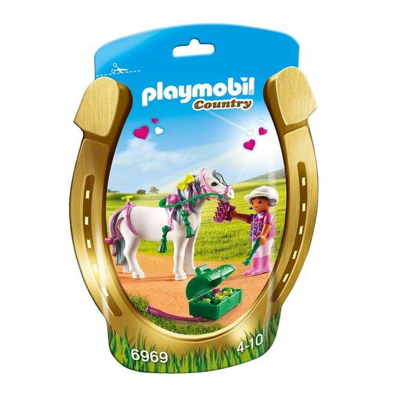 Poney à décorer Cur Playmobil 1.2.3 : 6969