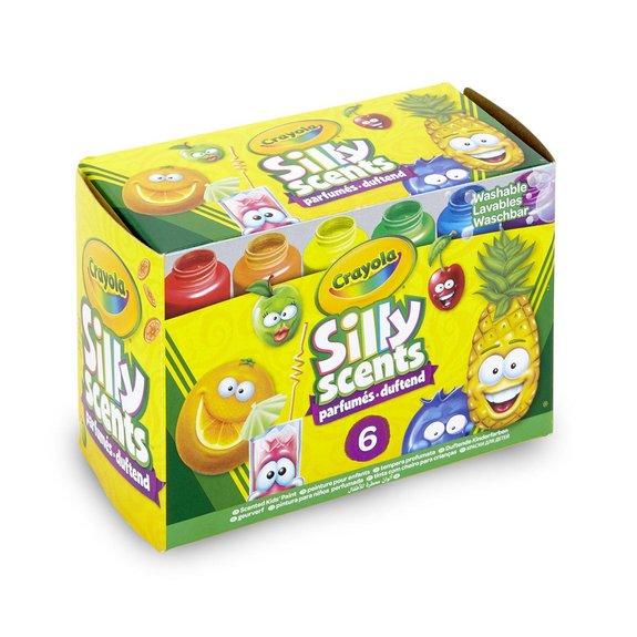 Crayola - Silly Scent : 6 pots de peintures parfumées