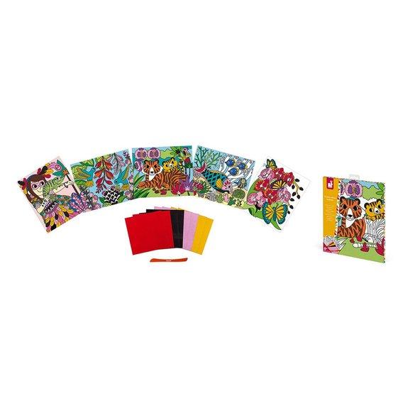 Kit Créatif Cartes velours à colorier