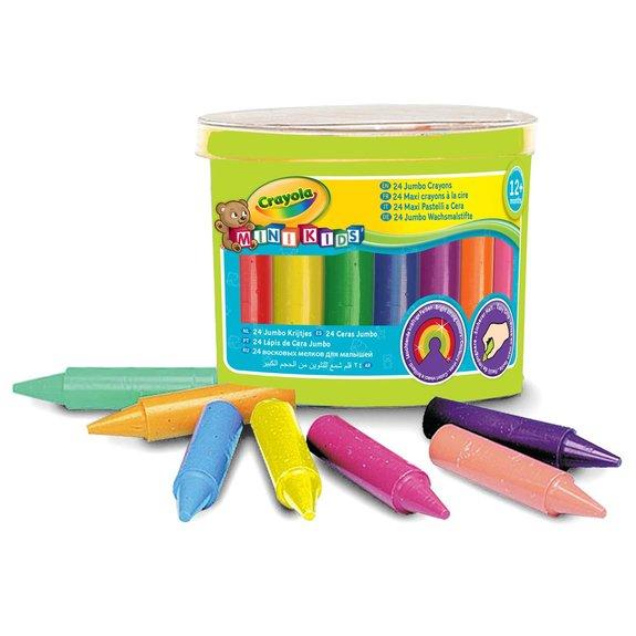 24 Maxi crayons en cire