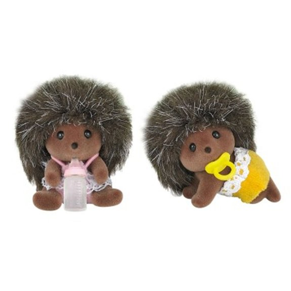 Figurines : Bébés jumeaux hérissons